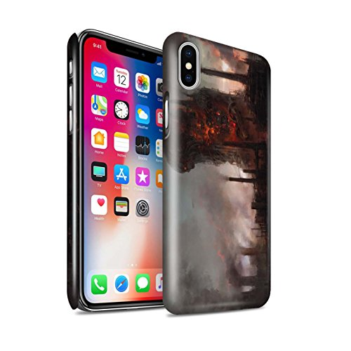 Offiziell Chris Cold Hülle / Glanz Snap-On Case für Apple iPhone X/10 / Shadowgate Schloss Muster / Gefallene Erde Kollektion Industrie Maschine