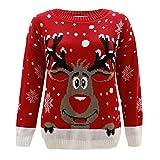 enfants filles garçons tricoté Rennes de Noël Rudolf Noël Nouveauté Pull 2-14 - Rouge, 13-14 Ans
