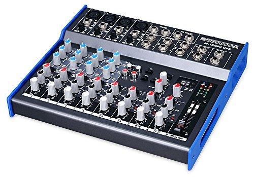 Pronomic M-1202UD USB Live/Studio Mischpult mit USB Schnittstelle (4 Mono-Kanäle XLR/Klinke, 4 Stereo Kanäle, Effektgerät, 3-Band-EQ, 48V Phantomspeisung)