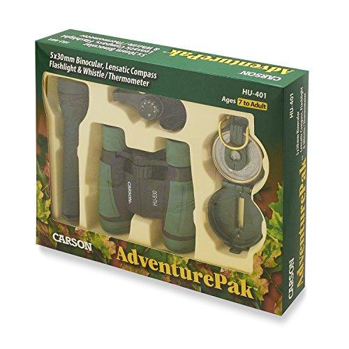 Carson Adventure-Pak Fernglas mit umfangreichem Zubehör für Outdoor-Einsatz