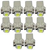 Aerzetix: 10x ampoule T5 12V LED SMD blanc pour tableau de bord