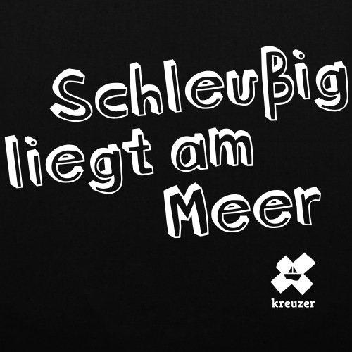 Spreadshirt Leipzig Nero Borsa Di Stoffa Nera