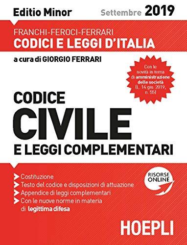 Codice civile e leggi complementari. Editio Minor