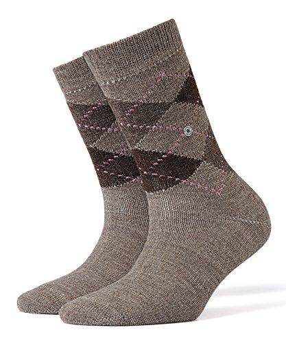 BURLINGTON Damen Socken Whitby, Warm Und Weich, 1 Paar, Braun (Nutmeg Melange 5413), Größe: 36-41