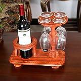 Zzsyso Redwood Weinglas Halter Home Vase Dekoration hoch auf den Kopf Flasche Regal hängend Multi-Flasche Rack Kühler Storage Locker dekoratives Set Indoor Desktop Küche Display-Ständer