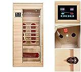 Home Deluxe – Infrarotkabine – Redsun S – Keramikstrahler – Holz: Hemlocktanne - Maße: 90 x 90 x 190 cm – inkl. vielen Extras und komplettem Zubehör - 2