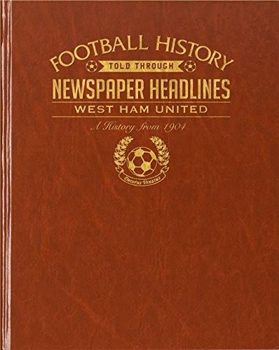 Signature PERSONALISED WEST HAM FOOTBALL CLUB History Newspaper Book Gift for Fan
