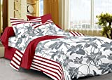Story@Home 208 TC 100% Cotton White 1 Single Bedsheet with 1 Pillow Cover