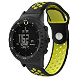 Teepao Suunto Core Uhr Band, Soft Silikon Ersatz Band Verstellbar Atmungsaktiv Sport Strap für Suunto Core Accessory Smart Watch, Grün