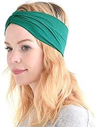 Casualbox Womens Japanese Elastic Headband Hair Band Accessory Sport Green