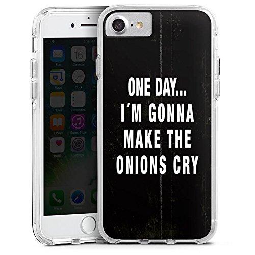 Apple iPhone 7 Plus Bumper Hülle Bumper Case Glitzer Hülle Statement Funny Lustig Bumper Case transparent