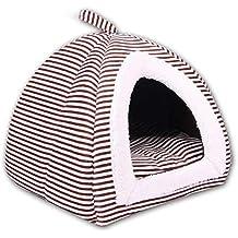 LiféUP Pet Kennel Teddy Casa Suave Cálida Cama-caseta Plegable para Pequeño ...