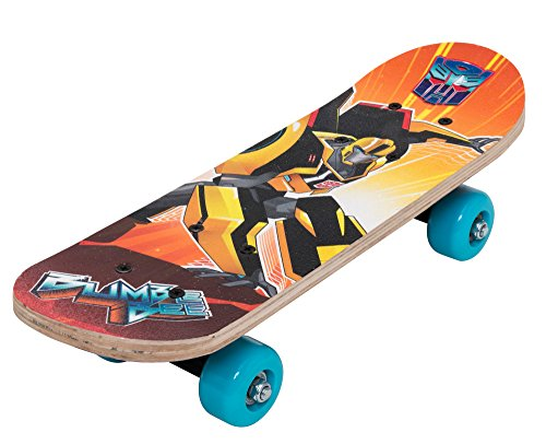 Joy Toy 96799 - Transformers Mini-Skateboard aus Holz, 43 x 12 x 8 cm
