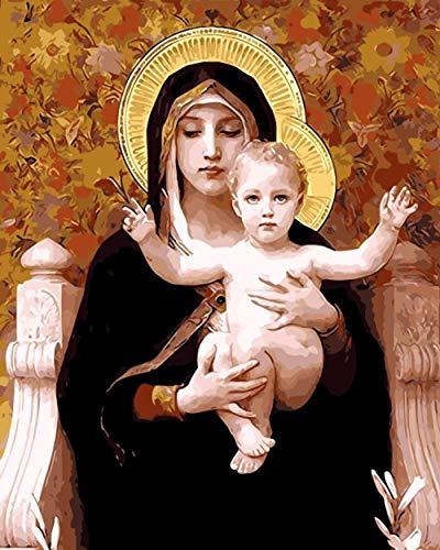 Artshdow Dekor Mutter Gottes Ölgemälde Bilder Nach Zahlen Digitale Bilder Färbung Von Hand Einzigartiges Geschenk Hauptdekoration Jungfrau Maria