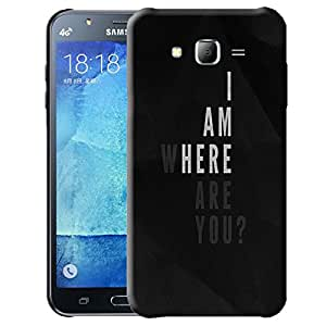 Theskinmantra I am where you are back cover for Samsung Galaxy J7