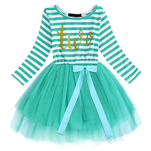 dd30298ba IWEMEK Baby Girls Toddler Kids Princess Long Sleeve Dress 1st 2nd ...