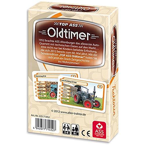ASS 22571452 TOP ASS® Oldtimer Traktoren, 36 Karten im Format 62 x 100 mm, in Plastiketui und veredelter Faltschachtel