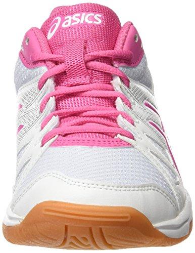 Asics Mädchen Gel-Upcourt Gs Badminton Schuhe Mehrfarbig (White / Azalea Pink / White)