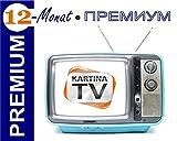 Kartina.TV 1 Jahr Abo PREMIUM ohne Vertragsbindung Ruskoe TV Archiv Videothek HD TV