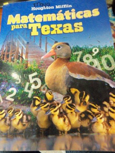 Math, Grade K Consumable Level 1: Houghton Mifflin Math Spanish Texas (Hmm Spanish Math Texas 2008)
