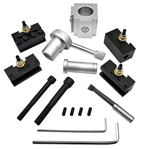 KKmoon Mini Quick Change Tool Tornio Portautensile Portautensile Vite Kit Set Boring Bar Girando La Chiave del Supporto