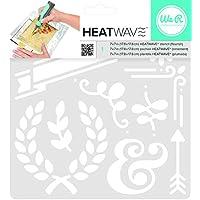 American Crafts We R Memory Keepers Heatwave Flourish Schablone, 17,8x 17,8cm