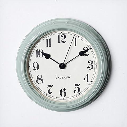 NLLPJMF Silent Orologio a parete non scorre tranquilla digitale orologi decorativi8 pollici, Lago Blu