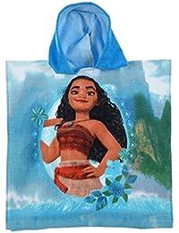 Vaiana - Poncho - cape de bain à capuche Vaiana bleu - unique