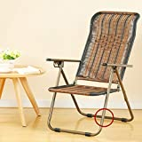 Sunloungers Feifei posteriore regolabile in rattan con schienale reclinabile, chaise vimini sedia pieghevole Round Feet
