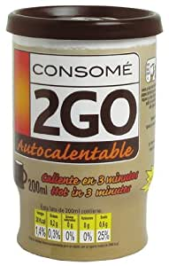 2GO Self Heating Hot Cup Chicken Consomme Soup 200 ml (Pack of 6)