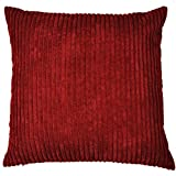 Just Contempo Jumbo Cord Filled Cushion, Red, 17x17 inches