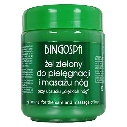 BINGOSPA Gel verde per gambe pesanti, vene varicose, vasi fragili - 500 ml