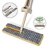 Lazy Mop, Essort doppelseitig Mop, Dual Action Wring-Technik Spiegeln Flachwischer, für Boden Reinigung Nass und Trocken, Freisprecheinrichtung waschbar, 360 °