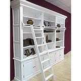 Bücherschrank WASHINGTON 3er weiß B 305cm Massiv