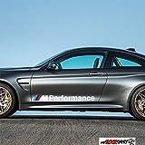 2x M Performance BMW 80cm Aufkleber für Scheibe, Lack, Hochleistungsfolie, UV& Waschanlagenfest`+ Bonus Testaufkleber