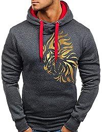 Yvelands Liquidación Active Sweaters, Jersey de Hombre Top Impreso Big & Tall Sudadera Outwear Coat Blusa