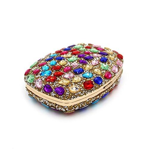 Flada , Pochette pour femme turquoise Wathet Color moyen Silver Color