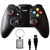 Gam3Gear iPega PG-9067 Dark Knight drahtlose Bluetooth-Controller für Samsung Huawei Android TV Box PC mit with Gam3Gear Keychain