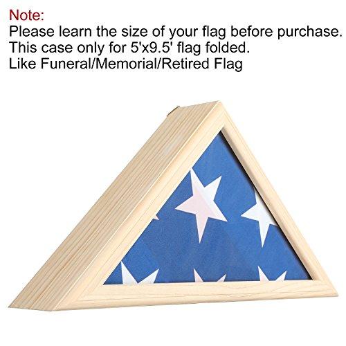 ase, Flagge Schaukasten Militär Box Begräbnis Shadow American Memorial Bestattung Flag Display Case für 5'x9.5' gefaltet (Flag Display-box)