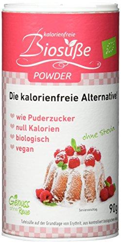 BIOSÜSSE Kalorienfreie Puderzucker, 1er Pack (1 x 90 g)