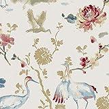 Carta da parati, Fiori non tessute Flamingo Wallpaper Murale Soggiorno Camera da letto Cucina Bagno, 0.53 * 10M = 5 Metri quadrati (57 piedi quadrati), Multicolor