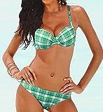 BUFFALO Marken Bügel Bikini grün creme Gr