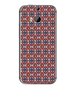 PrintVisa Designer Back Case Cover for HTC One M8 :: HTC M8 :: HTC One M8 Eye :: HTC One M8 Dual Sim :: HTC One M8s (Matty Box Round Design Texture Matefinish Star Girlish)