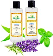 Divine India Hand Sanitiser Enriched with Neem, Basil Extracts & Lavender Oil (70% Isopropyl Alcohol) - 21