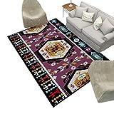 Home - Carpet ZWD Alfombra Regional, Estilo étnico Alfombra Inicio Dormitorio Manta Cama Colores Coloridos Tapiz de Pared Sofá Manta Productos (Color : C, Tamaño : 80 * 120CM)