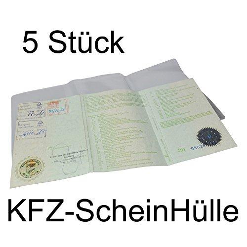 Preisvergleich Produktbild 2-TECH 5er Pack KFZ-Schein Hülle/KFZ-Scheinhülle Schutzhülle/Etui aus hochwertigem PVC