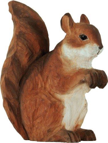 Wildlife Garden Dekofigur Holzfigur - Eichhörnchen - Handgeschnitzt