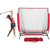 CN-WSC 5 * 5 pie Red de Entrenamiento para Béisbol Red de práctica de béisbol Practica de Softbol Red de Entrenamiento de Tubos de Acero Softball, bateo, Lanzamiento, Captura