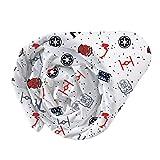 CTI 044674 Drap Housse Imprimé Univers Star Wars Dark Side Enfant Coton Gris 190 x 90 cm
