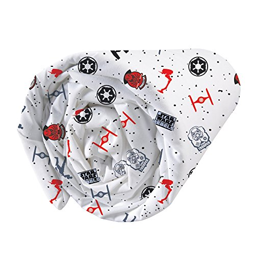 CTI 044674 Drap Housse Imprimé Univers Star Wars Dark Side Enfant Coton Gris 190 x 90 cm